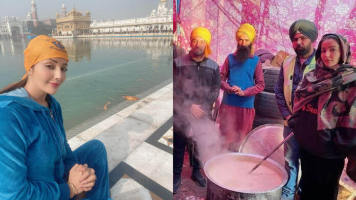 Sonia Mann Goes to Golden Temple For prays Farmers Success